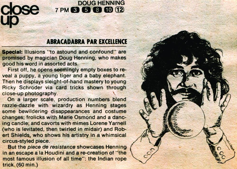 Doug Henning TV Special 1981.cdr