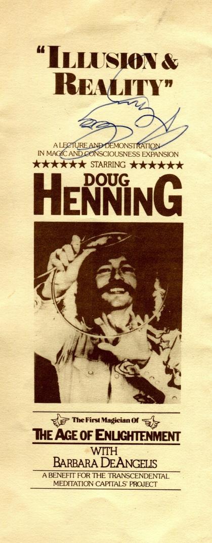 doug henning front of brochure 1977.cdr