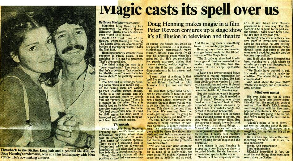 Doug Henning Magic Show at CNE 1977