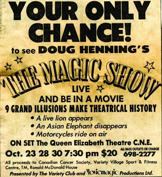 Doug HenningMovie taping.cdr