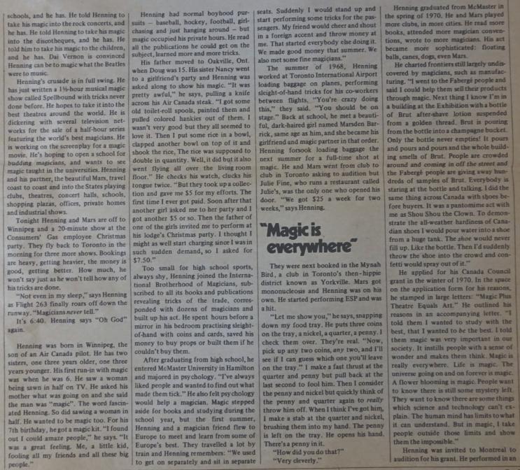 DOUG HENNING Canadian Magazine2